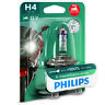 Philips Xtreme Vision Moto H4 130% More Light Motorcycle Headlight Bulb (Single)