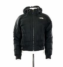 Women's The North Face Padded Parka Coat In Black Size Small UK 8