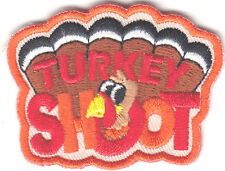 """""""TURKEY SHOOT"""" PATCH /Iron On Embroidered Patch/Sport, Games, Competition"""