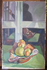 Tableau à Huile sur Planche Peinture Années Du Début des avec Certificat P12
