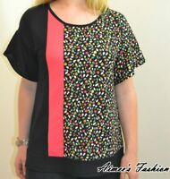 NEXT NEW LADIES BLACK DITSY FLORAL TOP SIZES 12,14,16,18,20