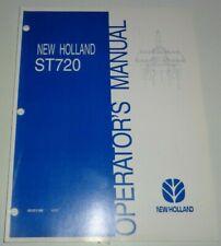 New Holland ST720 Conservation Tillage Machine Operators Manual Original! 6/02