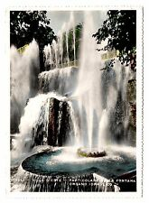 Villa D'este Tivoli Postcard Italy Fountains Real Photo RPPC Unposted Vintage