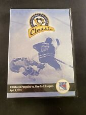 Pittsburgh Penguins Classic vs New York Rangers April 9, 1993