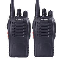 USA Stock 2x Baofeng BF-888S Handheld Ham Radio UHF400-470MHz 16CH Walkie Talkie
