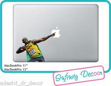 Adesivo Usain Bolt  per Mac Book Pro/Air 13 - Stickers  Usain Bolt MacBook 13