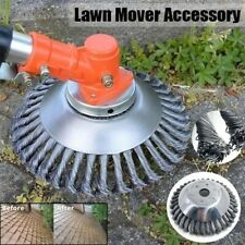 6'' Trimmer Head Grass Strimmer Steel Wire Wheel Mower Weed Brush Cutter Outdoor