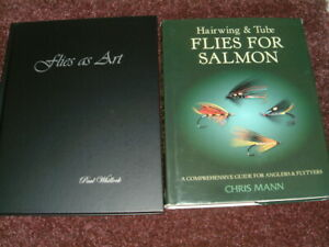 3 Fly fishing angling books Flies as Art, Hair wing & Tube 1st editions no carp