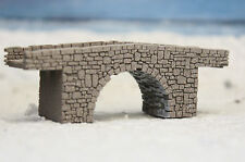 Z GAUGE Z SCALE SINGLE ARCH STONE BRIDGE LASER CUT AND ENGRAVED PRO PAINTED