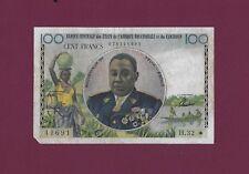 EQUATORIAL AFRICAN STATES CAMEROUN 100 FRANCS 1961 P-1e Fine ultra rare