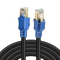 RJ45 Cat8 Network Ethernet Cable Gold Ultra-thin 40Gbps FLAT Lead 0.5m-30m LOT