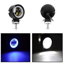 6500K 20W Round LED Angel Eyes Light Bar Off-Road Car LED Work Light Spot Light