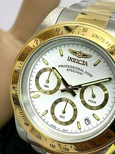 Invicta Men's Watch 9212 Speedway White Dial Two Tone SS Chronograph Quartz