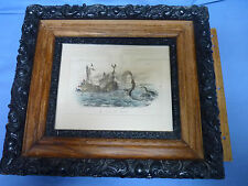 Framed and Numbered The Great Sea Serpent Number 32 Full Hand Color Etching
