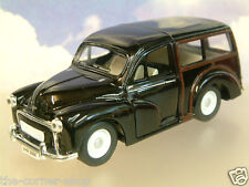 SAICO 1/26 DIECAST MORRIS MINOR TRAVELLER WITH PULL BACK MOTOR IN BLACK OVER 5""