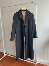 Jil Sander Navy wool coat grey check 36
