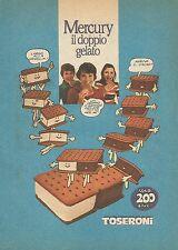 X7872 MERCURY il doppio gelato Toseroni - Pubblicità 1977 - Vintage advertising