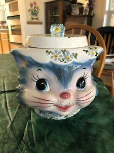 Vintage Lefton Miss Priss Kitty Cookie Jar