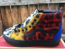 VANS Sk8 Hi Platform Shoes Multi-Color Leopard Fabric Print
