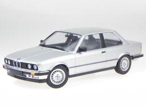 BMW e30 323i 2-door 1982 silver diecast modelcar 155026001 Minichamps 1:18