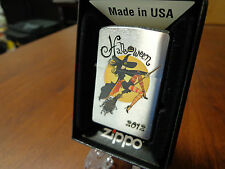 PINUP GIRL SEXY WITCH HAPPY HALLOWEEN RIDING BROOM ZIPPO LIGHTER MINT 2012