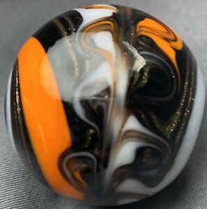 Handmade Marble Gold Stone ! ( Harley Davidson Corkscrew ) 1 1/2 + Inches (T8)