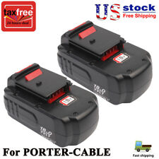 18V For PORTER-CABLE PC18B Battery PCC489N PC18BL PC18BLX PC18BLEX  PC1800D 2Pcs