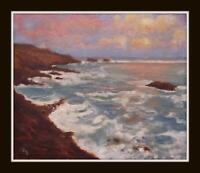 "The Norfolk Coast  Original Impressionist Oil Painting : David Baxter 10"" X 8"""