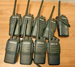 WORKS GREAT LOT OF 9 RETEVIS RT21 WALKIE TALKIE RADIO HANDHELD 2-WAY 400-480MHZ