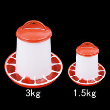 Chicken Quail Poultry Chick Hen Drinker Food Feeder Waterer Bucket 1.5kg Pets