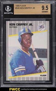 1989 Fleer Ken Griffey Jr. ROOKIE RC #548 BGS 9.5 GEM MINT