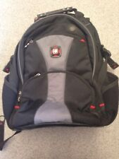 Swissgear By Wenger Black Backpack Preowned Laptop School Hiking Camping