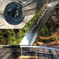 Fully Black Clay Tempered T1095 High Carbon Steel Japanese Samurai Super Sharp
