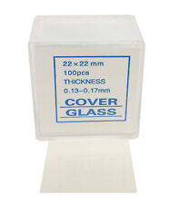 Microscope Cover Slips, Size #1 Thickness, 22mm by 22mm, Pack of 1000 Slides