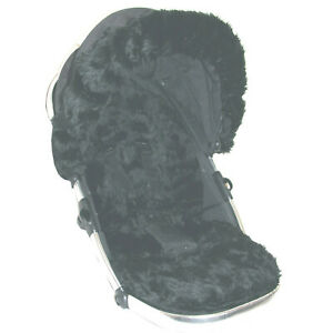 Black Faux Fur Seat Liner (liner only) - Select your model of pushchair