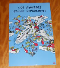 Los Angeles Police Department Poster Original Promo 11x17