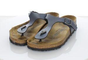 25-28 $100 Women's Sz 8 M Birkenstock Gizeh Birko-Flor Hard Footbed Sandals