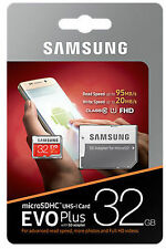Samsung EVO Plus 32 GB Class 10 Grade 1 microSDHC 95 MB/s Card with SD Adapter