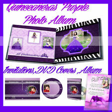 Photoshop Quinceañera Templates  Photo Book ,DVD Covers purple PSD