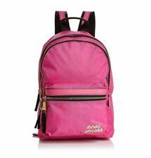 Marc Jacobs Logo Medium Trek Nylon Backpack Vivid Pink Authentic
