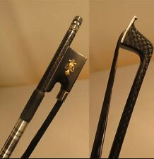 strong plaid black bow hair  Carbon fiber violin bow 4/4 Copper Mounted