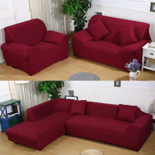 Stretch Fabric Sofa Slipcover Elastic Sectional Furniture Cover Protector Couch