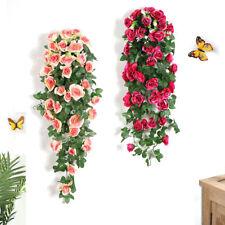 18 Flowers Artificial Flower Garland Vine Ivy Fake Plant Leaves Home Decor 90cm,