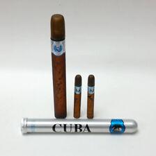 Cuba Paris Blue Eau De Toilette Spray Cologne Men 1.17oz Tube & .17oz x2  Minis