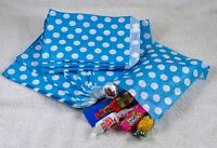 """100 Light Blue & White Spot Design Paper Sweet Party Bags Any Occasion 5"""" by 7"""""""