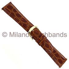 20mm Marcco Brown Croco Grain Genuine Leather Mens Watch Band XL