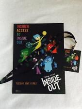 INSIDE OUT - Original Promotional Movie LOT Poster & Lanyard Pixar Mint w/code