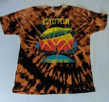 Xxl Black Home Bleach Dyed Led Zepplin T-shirt Tultex Tag 100% Cotton