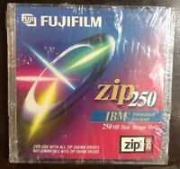 New Factory Sealed Fujifilm Zip 250 Disk IBM Formatted ~  USA