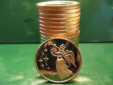 New listing 20 Christmas Rounds - Angel 1 oz .999 Copper Christmas Tree Back-Beautiful